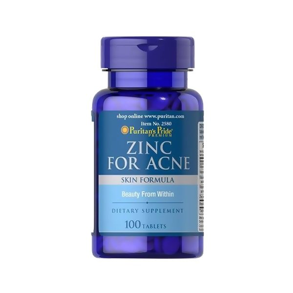 Zinc For Acne Puritan's Pride - 100 viên