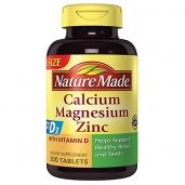 Giúp xương và răng chắc khỏe Nature Made Calcium Magnesium Zinc - 300v