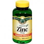 Viên kẽm Zinc 50 mg hộp 200 viên Spring Valley - Duy trì hệ miễn dịch khỏe mạnh