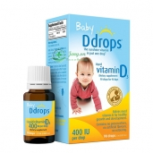Baby Ddrops Vitamin D3 cho trẻ sơ sinh của Mỹ - 90 giọt
