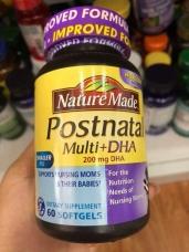Vitamin cho mẹ bầu sau sinh Nature Made Postnatal Multi DHA - 60v