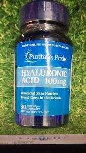 Viên Uống Hyaluronic Acid 100mg Puritan\'s Pride Chống Lão Hóa Da